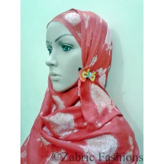 Hijab- Designer viscous red