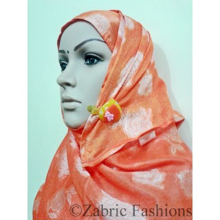 Hijab- Designer viscous-orange