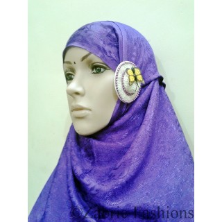 Hijab-Designer viscous purple