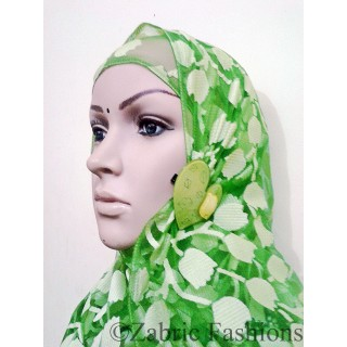 Hijab- designer with green cap