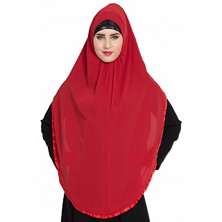 Premium Instant Hijab- Red color