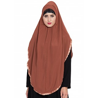 Premium Instant Hijab- Rust color