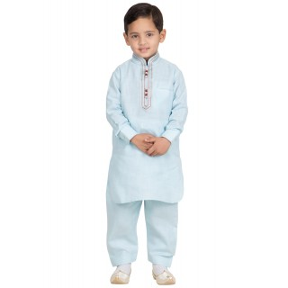 Elegant Boys Pathani-Suit-Tropical Blue colored