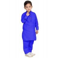 Elegant Boys Pathani-Suit-Royal Blue colored