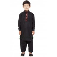 Elegant Boys Pathani-Suit- Black