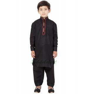 Elegant Boys Pathani-Suit- Black