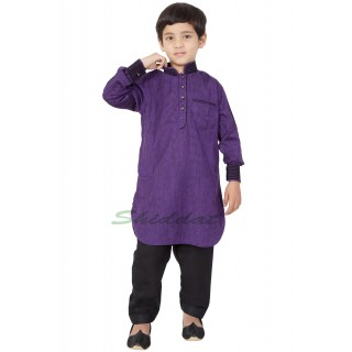 Boys Pathani Suit- Purple