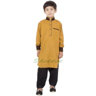 Boys Pathani Suit- Fuel Yellow colored