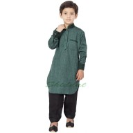 Boys Pathani Suit- Dim Grey colored