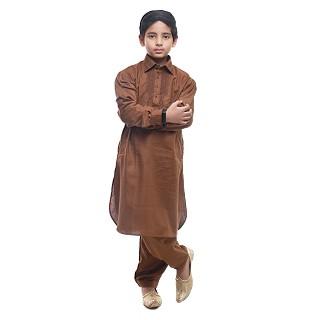 Designer Boy's/Kids  Pathani Suit- Brown