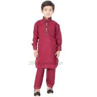 Stylish Boy's Pathani-Suit- Maroon