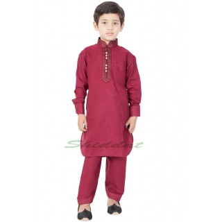Stylish Boy's Pathani-Suit- Maroon