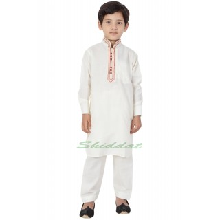Elegant Boys Pathani-Suit- Off White