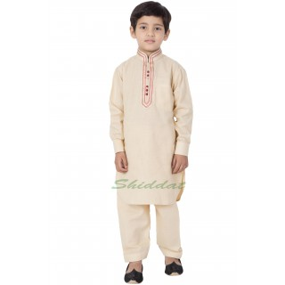 Elegant Boys Pathani-Suit - Beige