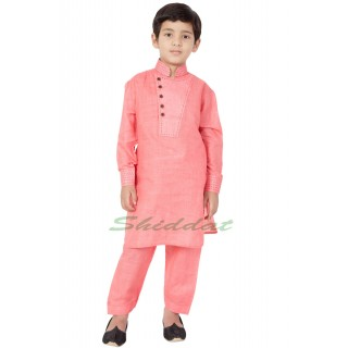 Designer Boy's/ Kid's Pathani Suit- Pink