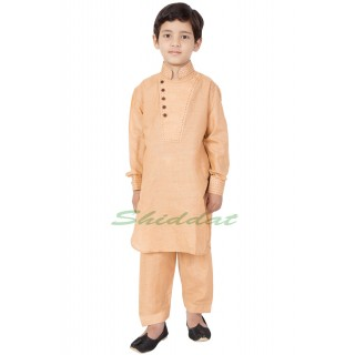 Designer Boys Pathani Suit- Light Orange