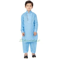 Designer Boys Pathani Suit- Sky Blue