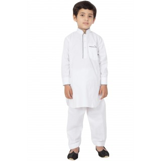 Latest Designer Suit for Kid's/Boy's - White