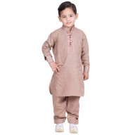 Pathani kurta-pajama for kids-Cavern pink colored