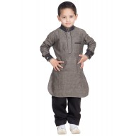 Boys Pathani Suit- Cement colored