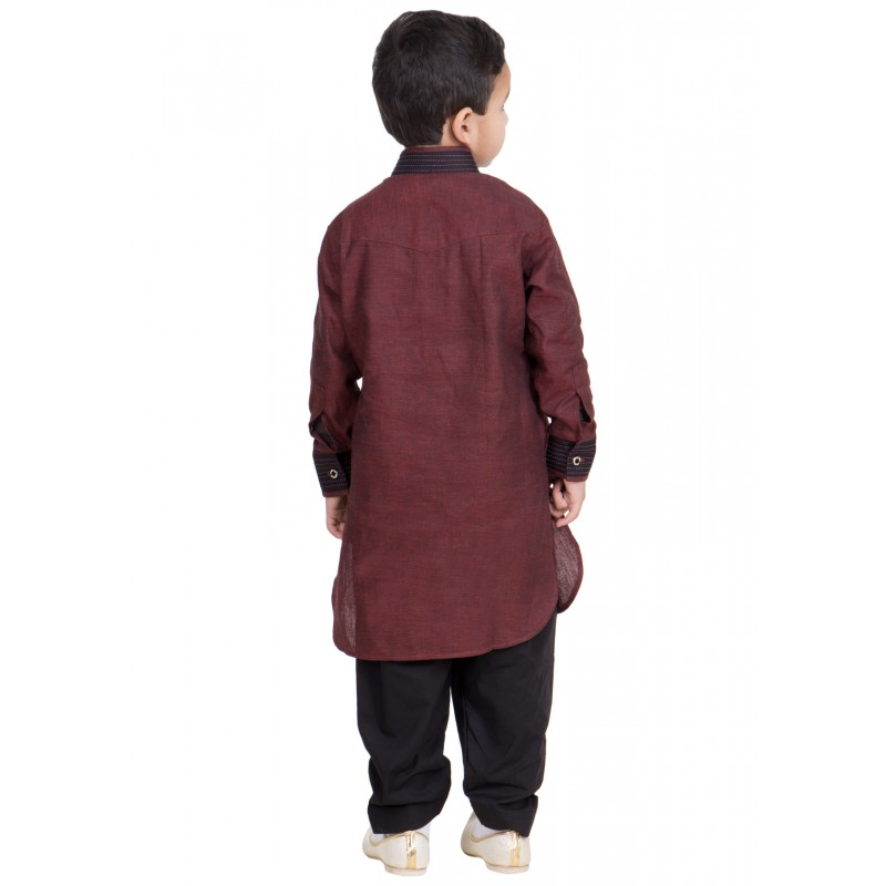 9d0fd56d3 Pathani Suit for children online in India- Lotus Brown colored