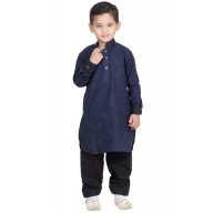 Boys Pathani Suit- Oxford Blue colored