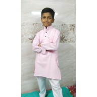 Kids Kurta Pyjama Set - Turkish Rose