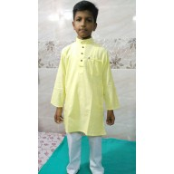 Kids Kurta Pyjama Set - Yellow