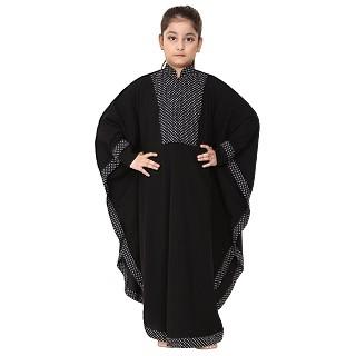 Indo Classic kaftan for kids- Black