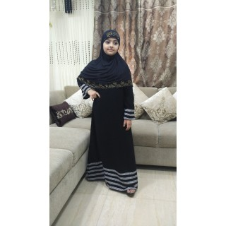 Classic Abaya for kids-Black