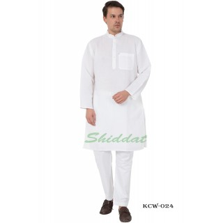 White Kurta Pyjama set-  Linen fabric