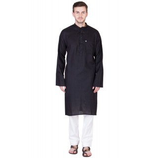 Black and white Kurta Pyjama set