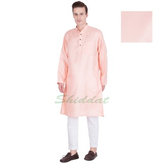 Cotton kurta pyjama set - Light Pink