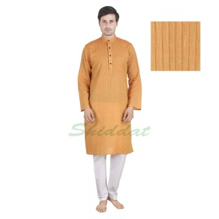 Kurta Pyjama set- Yellow cotton
