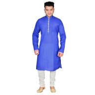 Kurta Pajama set- Royal Blue & White
