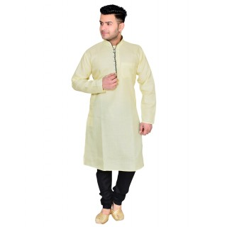 Kurta Pajama set - Lemon & Black