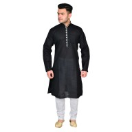 Kurta Pajama set- Black & Cream