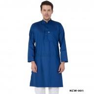 Men's Kurta- Midnight Blue in Dobby Cotton