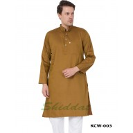 Men's Kurta in Dobby Cotton - Bourbon Color