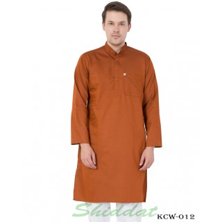 Tuscany Brown color Long kurta in Dobby Cotton