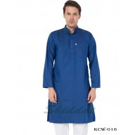 Men's Kurta-  Tory Blue color in Dobby Cotton