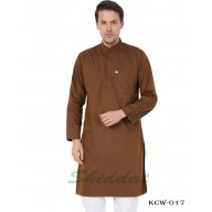 Men's Kurta-  Irish Coffee color in Dobby Cotton