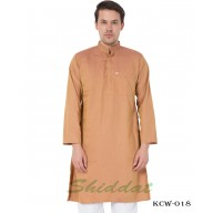Men's Kurta-  Antique Brass color in Dobby Cotton