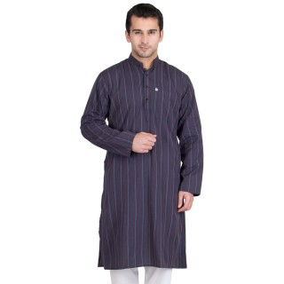 Gun Powder Colored Kurta- Cotton Fabric