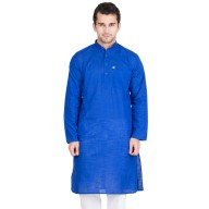 Royal Blue Colored Kurta - Cotton Fabric