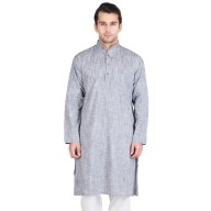 Kurta for men- Pale Slate Colored in Cotton Fabric
