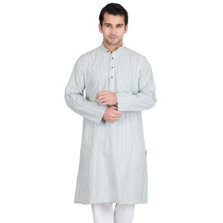 Athens gray colored kurta - Cotton fabric