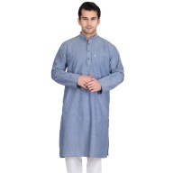 Wild Blue Colored Kurtas for man- Cotton Fabric