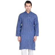 East Bay Blue Colored Kurta for men- Cotton Fabric
