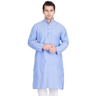 Cornflower Blue Colored Kurtas for man- Cotton Fabric